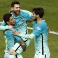 Barcelona superó 2-1 al Atlético de Madrid por la Copa del Rey
