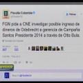 Colombia: Gerente de campaña de Santos negó recepción de dinero de Odebrecht