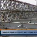 SJL: anclaron puente Bailey sobre el río Huaycoloro
