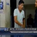 Iquitos: intervienen a policía que amenazó con arma a mozo en un bar