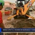 Barranco y Chorrillos: rotura de tubería de agua potable genera aniego
