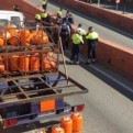 Barcelona: detienen a sujeto que conducía camión con gas butano a gran velocidad