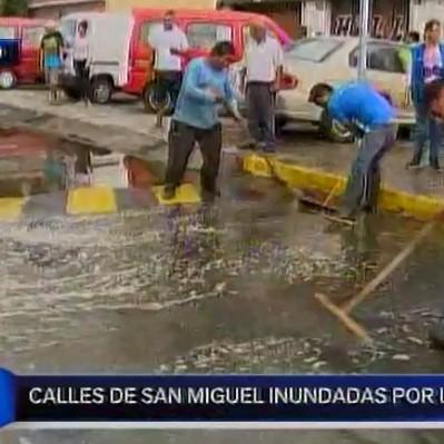 San Miguel: casas quedaron inundadas tras intensa lluvia en Lima