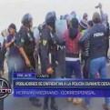 Cañete: policías e invasores se enfrentaron en la Panamericana Sur
