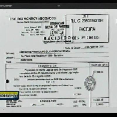 Caso Odebrecht: factura desmentiría a Juan Monroy sobre entrega de informe