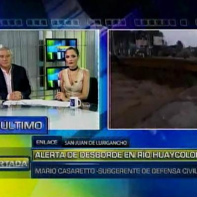 San Juan de Lurigancho: alertan de incremento del caudal del río Rímac