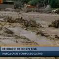 Cañete: desborde de río Asia inunda casas y campos de cultivo