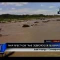 Tumbes: desborde de quebrada afectó color del mar