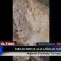 Ayacucho: 3 personas murieron y otras 3 quedaron heridas en caída de huaico