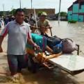 Lambayeque: río La Leche se desbordó y varios distritos resultaron inundados