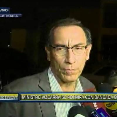 Ministro Martín Vizcarra se reúne con bancada de APP