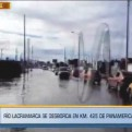 Nuevo Chimbote quedó inundado tras desborde del río Lacramarca