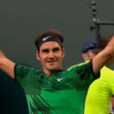 Un brillante Roger Federer despachó a Rafael Nadal de Indian Wells