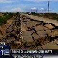 Chiclayo: parte de la Panamericana Norte terminó destrozada por intensas lluvias