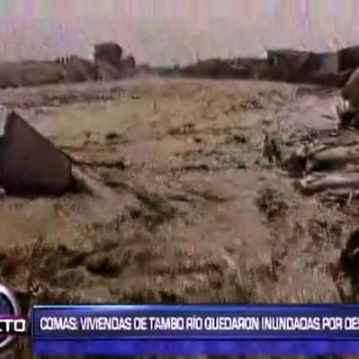 Comas: desborde del río Chillón deja decenas de viviendas inundadas
