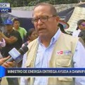 Chosica: Ministerio de Energía y Minas llevó ayuda a poblado Los Cañaverales