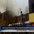 Huaura: incendio afecta dos viviendas en distrito de Hualmay