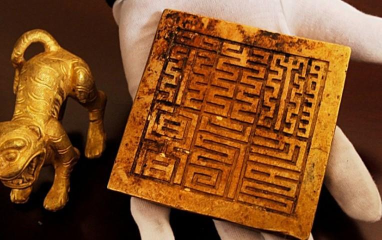 El sitio del tesoro, ubicado en la intersección de los ríos Minjiang y el Jinjiang River, está 50 kilómetros al sur de Chengdu. (Vía: EFE)