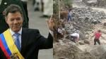 Colombia: Juan Manuel Santos ofreció ayuda al Perú tras desastres naturales - Noticias de juan manuel santos