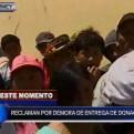 Huarmey: pobladores se quejan por demora en la entrega de donaciones