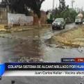 Huachipa: sistema de alcantarillado colapsó ante caída de huaicos