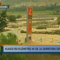 Huarochirí: río Rímac inundó Km. 44 de la Carretera Central