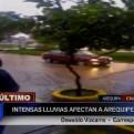 Arequipa: lluvias generan aniegos en la ciudad
