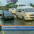 Calles de Lima amanecieron anegadas tras varias horas de lluvias