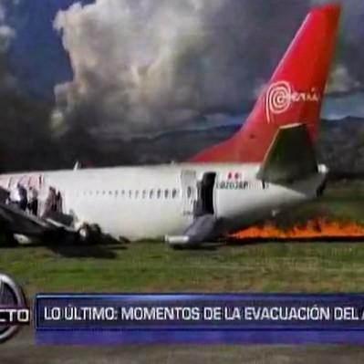 Jauja: 29 pasajeros fueron llevados al hospital tras incendio de avión
