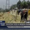 Chosica: hallan cuerpo de ingeniero que cayó al río Rímac