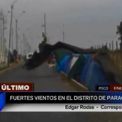 Pisco: fuertes vientos alertan a la población del distrito de Paracas