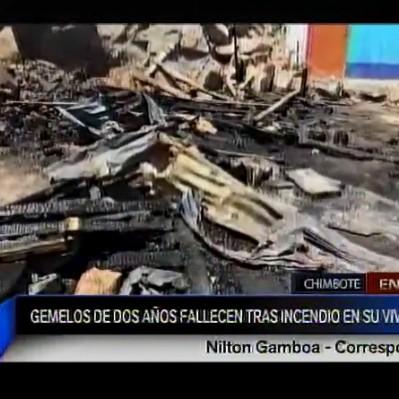 Chimbote: gemelos de dos años mueren en incendio de su vivienda