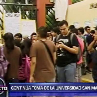 San Marcos: continúa toma de la universidad por alumnos y trabajadores
