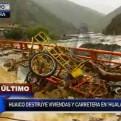 Piura: huaico destruyó más de 40 viviendas y carretera en Hualapampa