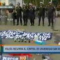 Universidad San Marcos: 300 policías ingresaron a la sede estudiantil