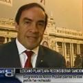 Lescano planteará reconsideración para sanción a Carlos Bruce