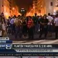 Centro de Lima: realizan plantón por el #5deabril y contra derogación de decreto