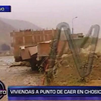 Chosica: viviendas de Huampaní a punto  de colapsar por crecida de río