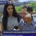 Delincuentes golpean a empresario para intentar robar su caja fuerte