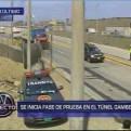 Túnel Gambetta: se inició fase de prueba en vía auxiliar