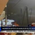 Villa El Salvador: incendio en tienda de muebles fue controlado