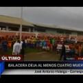 Tumbes: cuatro muertos y un herido dejó una balacera en Zarumilla