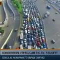 Congestión vehicular en la avenida Faucett cerca al aeropuerto