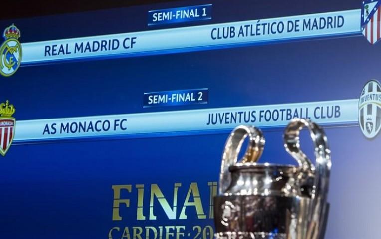 Champions League: Real Madrid-Atlético y Mónaco-Juventus en semifinales | Deportes