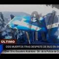 Áncash: 3 muertos y 16 heridos en despiste de ómnibus interprovincial