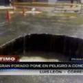 Trujillo: gran forado en pista puso en peligro a conductores