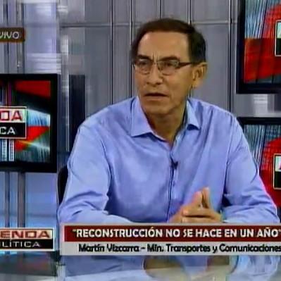 Vizcarra: Director de la reconstrucción será asistente de Fernando Zavala