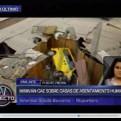 Minivan cayó sobre 2 casas de un asentamiento humano en Puente Piedra