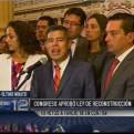Fuerza Popular: No modificar proyecto de Reconstrucción hubiera sido irresponsable