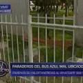 Corredor Azul: paraderos mal ubicados afectan a cientos de usuarios